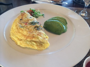 Egg and Sausage Omelette with Avacado