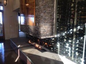 Beautiful Fireplace and Wine Selection in Terra Restaurant